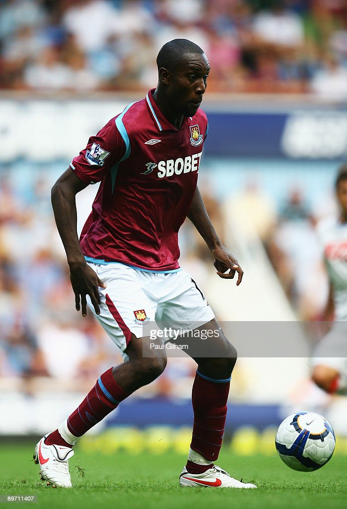 Carlton Cole of West Ham United in action during the Bobby Moore Cup between West Ham United and Napoli at Upton Park on August 8 2009 in London...