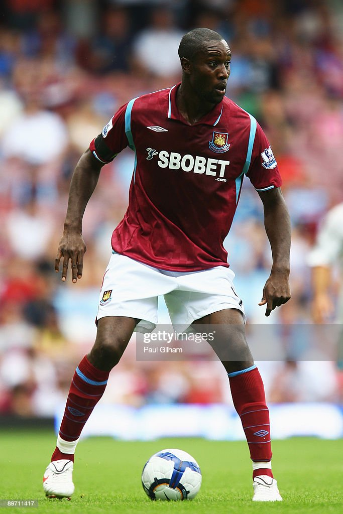 Carlton Cole of West Ham United looks on during the Bobby Moore Cup between West Ham United and Napoli at Upton Park on August 8, 2009 in London, England.