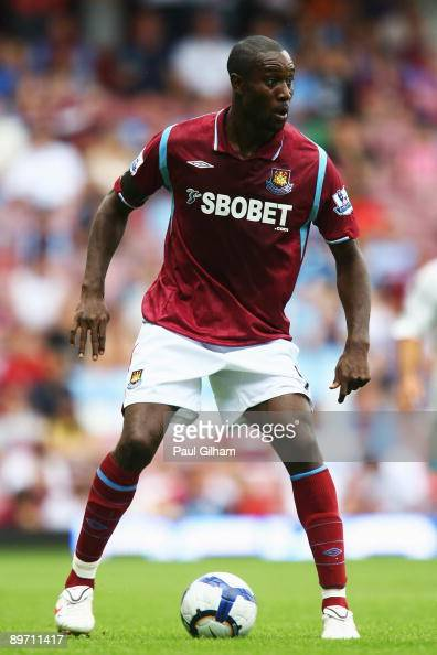 Carlton Cole of West Ham United looks on during the Bobby Moore Cup between West Ham United and Napoli at Upton Park on August 8 2009 in London...