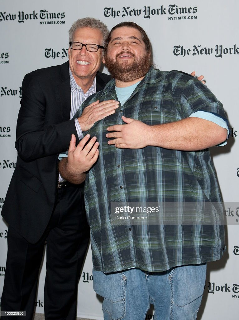 Carlton Cuse and Jorge Garcia attend The New York Times' TimesTalk with the creators of ABC's 'Lost' at TheTimesCenter on May 20, 2010 in New York City.