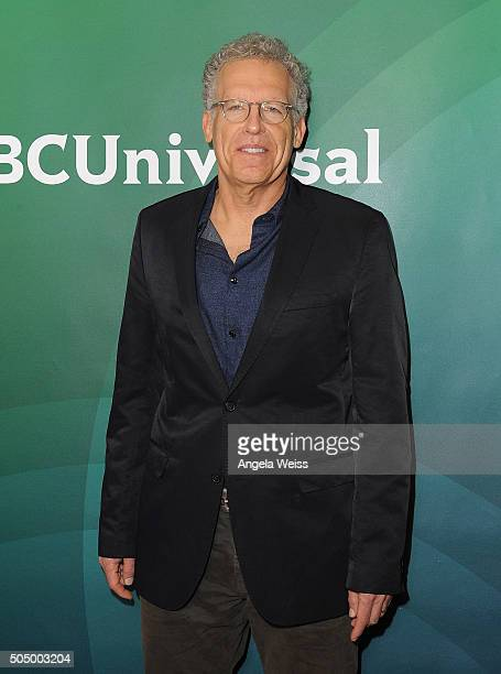 Carlton Cuse arrives at the 2016 Winter TCA Tour NBCUniversal Press Tour Day 2 at Langham Hotel on January 14 2016 in Pasadena California