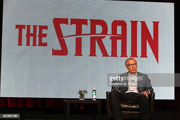 Carlton Cuse Executive Producer/Showrunner of the television show 'The Strain' speaks onstage during the FX portion of the 2014 Television Critics...