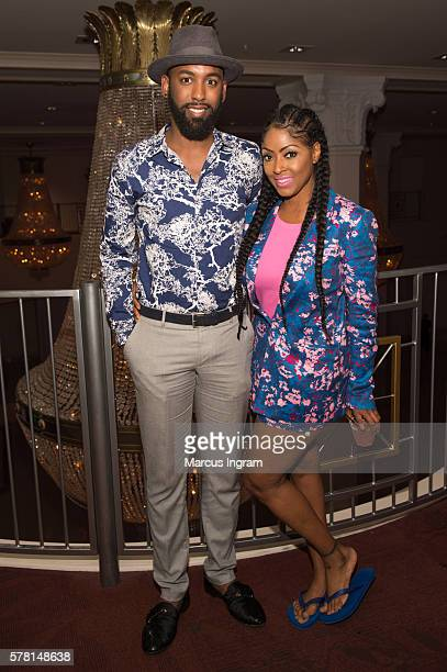 Carlton Morton and Dr Zelda Pittman attend The Grand Finale Affair at 200 Peachtree on July 15 2016 in Atlanta Georgia