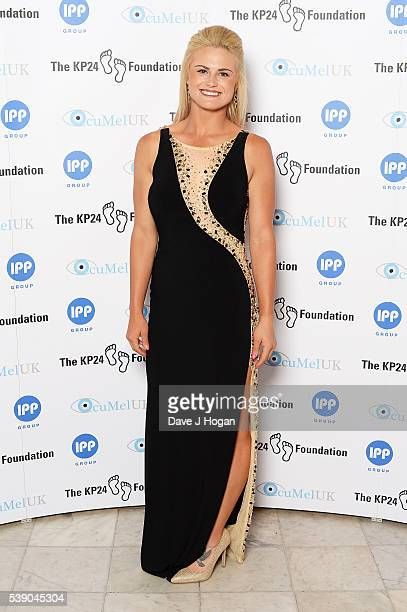Carly Booth attends The KP24 Foundation Charity Gala Dinner at The Waldorf Hilton Hotel on June 9 2016 in London England