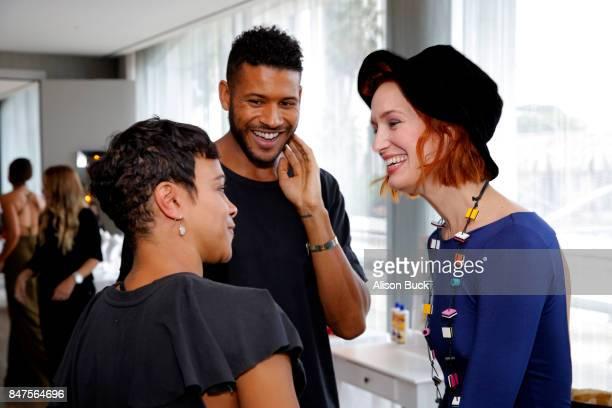 Carly Hughes Jeffrey BowyerChapman and Breeda Wool attend Kari Feinstein's Style Lounge presented by Ocean Spray on September 15 2017 in Los Angeles...