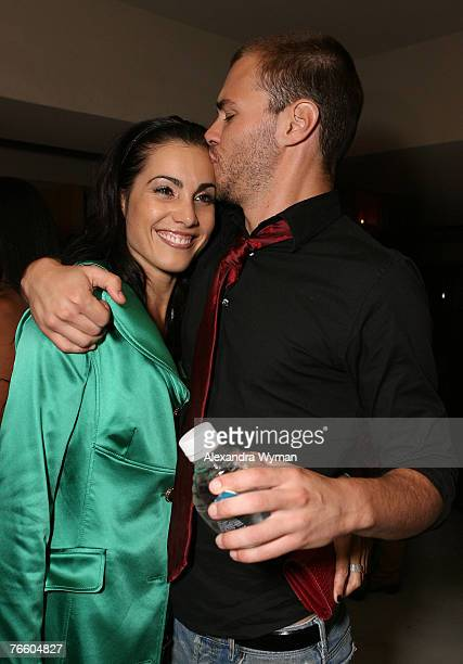 Carly Pope and Patrick Flueger at the 32nd Annual Toronto International Film Festival Motorola Late Night Lounge at 88 Yorkville Avenue on September...