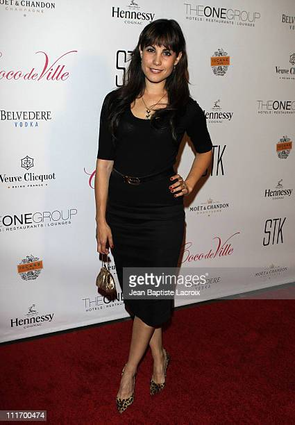 Carly Pope attends Mischief Night 2009 at STK on October 30 2009 in Hollywood California