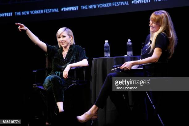 Carly Rae Jepsen and Amanda Petrusich attend Carly Rae Jepsen Talks with The New Yorker's Amanda Petrusich and Performs Live during The New Yorker...