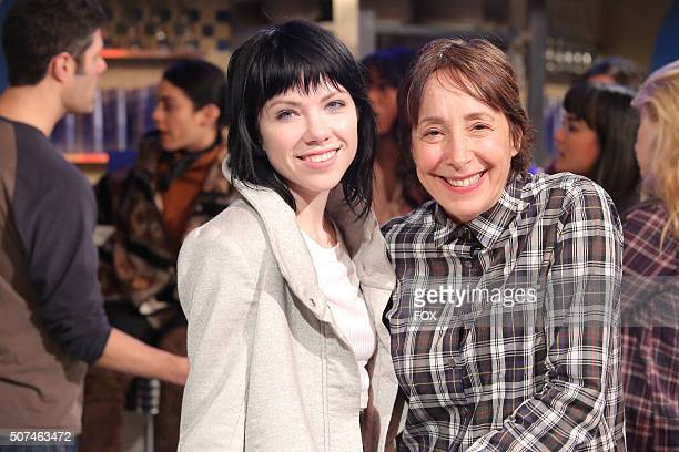 LIVE Carly Rae Jepsen as 'Frenchy' and Didi Conn as Vi rehearse for GREASE LIVE airing LIVE Sunday Jan 31 on FOX