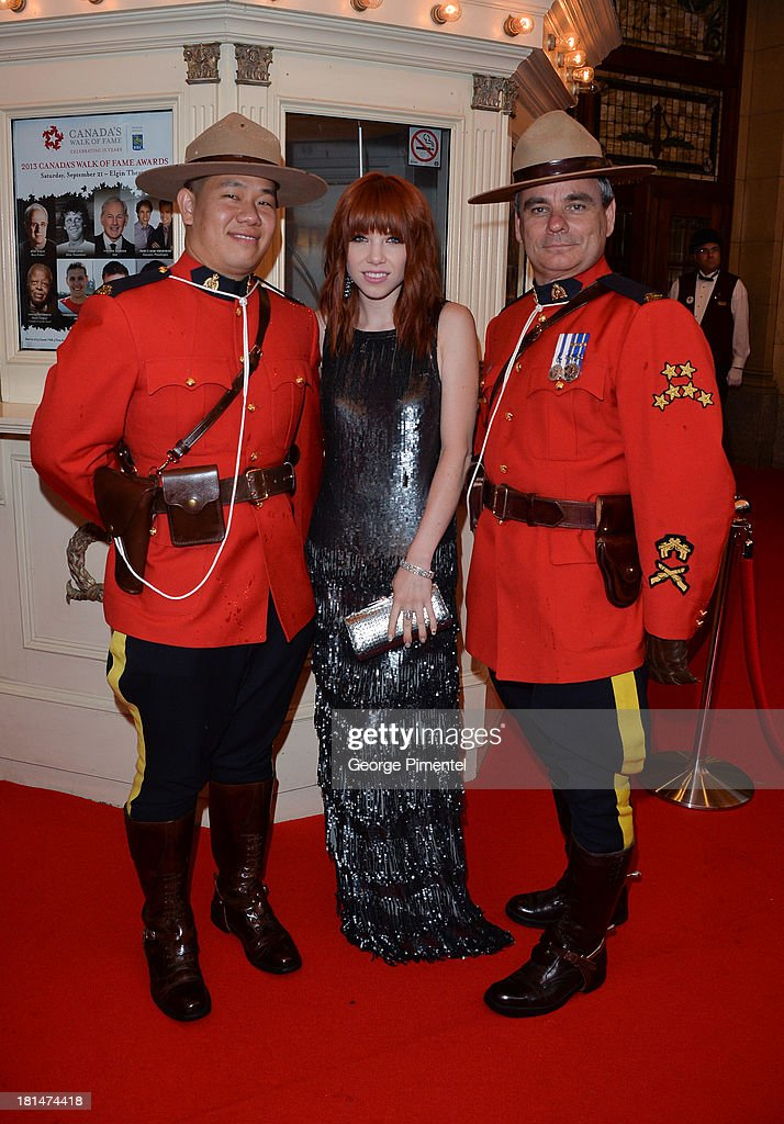 Carly Rae Jepsen attends Canada's Walk Of Fame Ceremony at The Elgin on September 21, 2013 in Toronto, Canada.