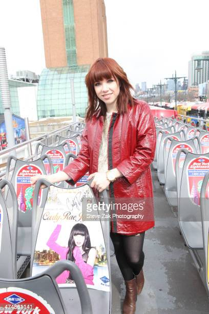 Carly Rae Jepsen attends Carly Rae Jepsen Honored By Ride Of Fame at Pier 78 on February 25 2014 in New York City