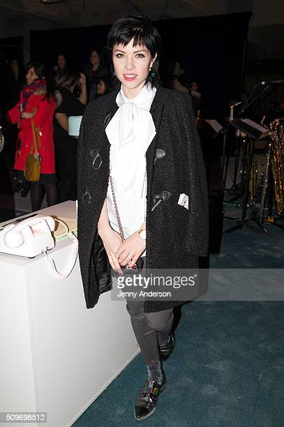 Carly Rae Jepsen attends Rachel Antonoff Presentation during the Fall 2016 New York Fashion Week at Grace Building on February 11 2016 in New York...