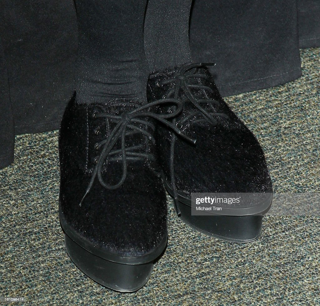 Carly Rae Jepsen (shoe detail) attends Seventeen's Magazine signing and pretty amazing casting call held at Barnes & Noble bookstore at The Grove on February 8, 2013 in Los Angeles, California.