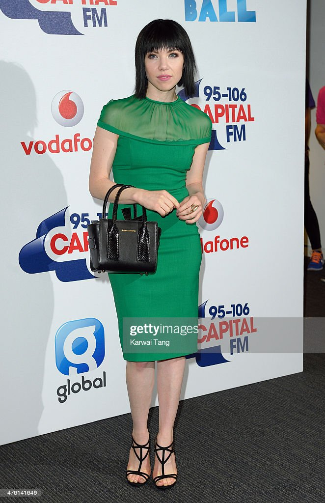 Carly Rae Jepsen attends the Capital FM Summertime Ball at Wembley Stadium on June 6, 2015 in London, England.