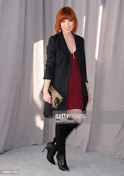 Carly Rae Jepsen attends the Comedy Central Roast Of Justin Bieber on March 14 2015 in Los Angeles California