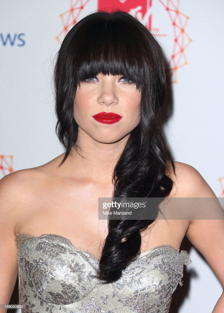 Carly Rae Jepsen attends the MTV EMA's 2012 at Festhalle Frankfurt on November 11, 2012 in Frankfurt am Main, Germany.
