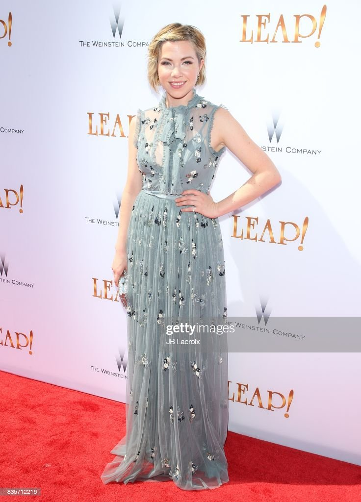 Carly Rae Jepsen attends the premiere of The Weinstein Company's 'Leap!' on August 19, 2017 in Los Angeles, California.