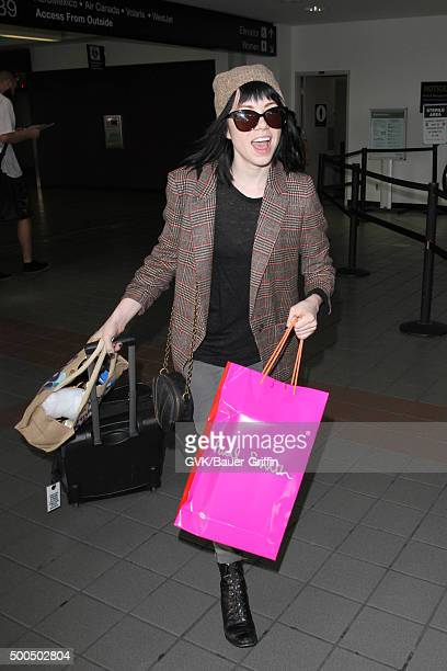 Carly Rae Jepsen is seen at LAX on December 08 2015 in Los Angeles California
