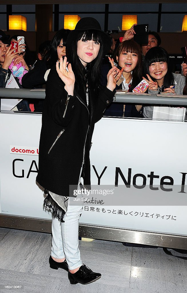 Carly Rae Jepsen is seen upon arrival at Narita International Airport on January 31, 2013 in Narita, Japan.
