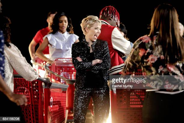 Carly Rae Jepsen OnSet with Target for 'It Takes Two' Remake and Commercial to Air During 59th Annual Grammy Awards on January 23 2017 in Culver City...