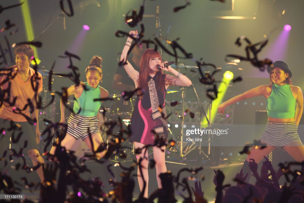 Carly Rae Jepsen perfoms onstage during the MTV VMAJ 2013 at Makuhari Messe on June 22, 2013 in Chiba, Japan.