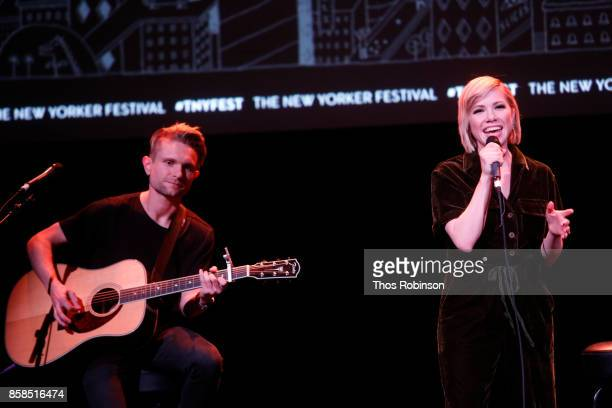 Carly Rae Jepsen performs at Carly Rae Jepsen Talks with The New Yorker's Amanda Petrusich and Performs Live during The New Yorker Festival on...