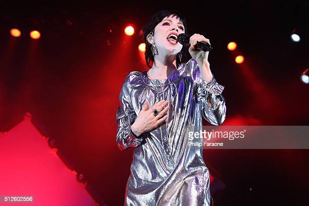 Carly Rae Jepsen performs at City National Grove of Anaheim on February 26 2016 in Anaheim California