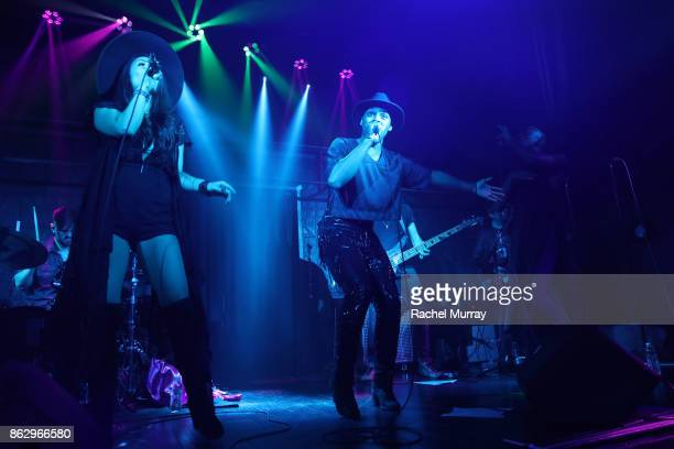 Carly Rae Jepsen performs at Justin Tranter And GLAAD Present 'Believer' Spirit Day Concert at Sayer's Club on October 18 2017 in Los Angeles...