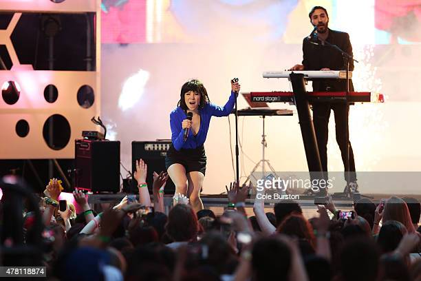 Carly Rae Jepsen performs at the 2015 Much Music Video Awards at MuchMusic on Queen Street West in Toronto June 21 2015