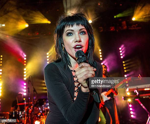 Carly Rae Jepsen performs during her 'Gimmie Love' tour at Irving Plaza on November 11 2015 in New York City