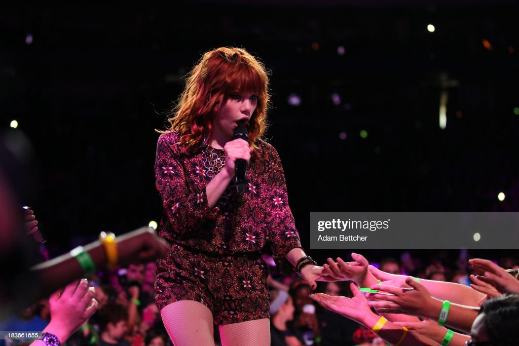 Carly Rae Jepsen performs during the We Day Minnesota event at the Xcel Energy Center in St. Paul, Minnesota on October 8, 2013