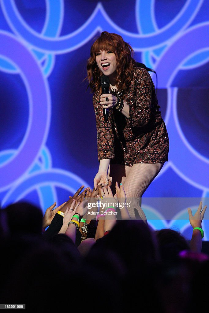 <a gi-track='captionPersonalityLinkClicked' href=/galleries/search?phrase=Carly+Rae+Jepsen&family=editorial&specificpeople=6903584 ng-click='$event.stopPropagation()'>Carly Rae Jepsen</a> performs during the We Day Minnesota event at the Xcel Energy Center in St. Paul, Minnesota on October 8, 2013