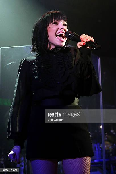 Carly Rae Jepsen performs in support of her 'E·MO·TION' release at the Troubadour on August 24 2015 in West Hollywood California