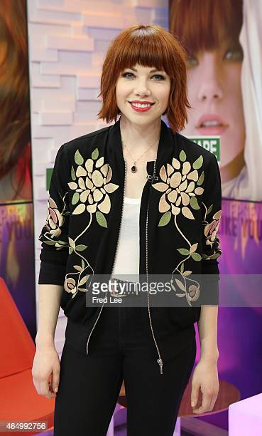 AMERICA Carly Rae Jepsen performs live on 'Good Morning America' 3/2/15 airing on the ABC Television Network