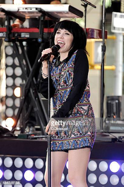 Carly Rae Jepsen performs on NBC's 'Today' at Rockefeller Plaza on August 21 2015 in New York City