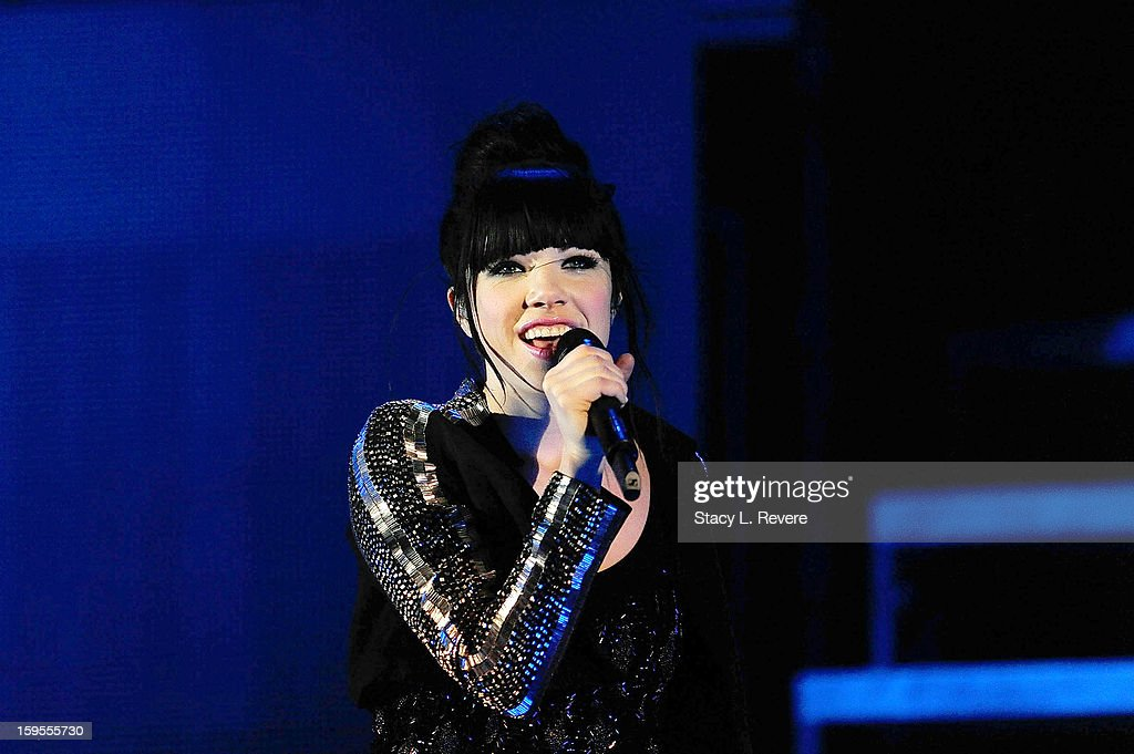 Carly Rae Jepsen performs onstage at the New Orleans Arena on January 15, 2013 in New Orleans, Louisiana.