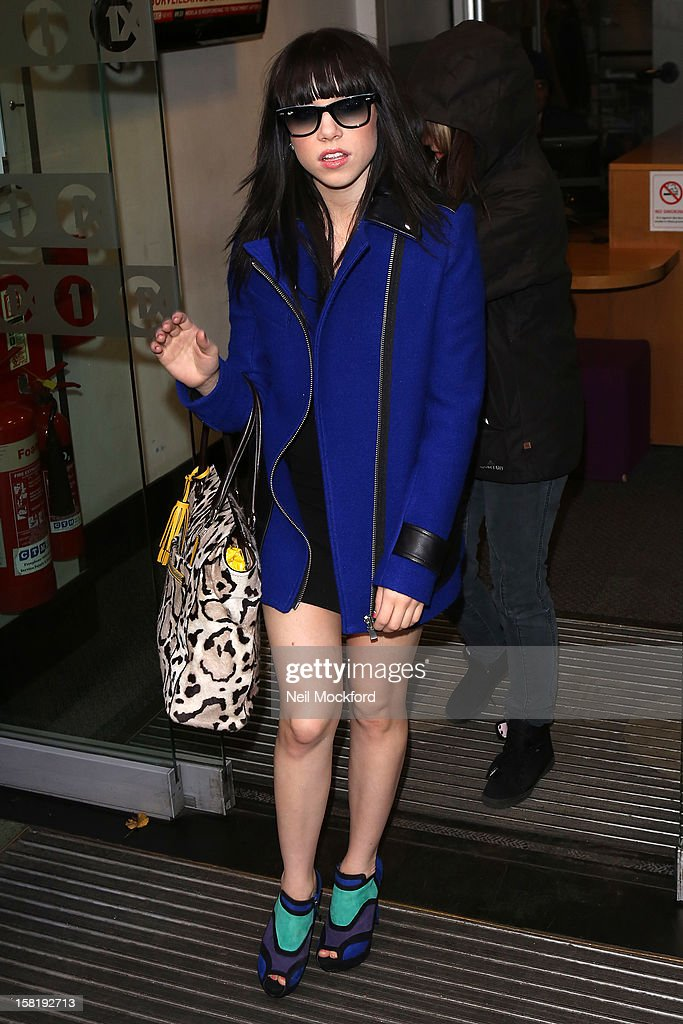 Carly Rae Jepsen seen at BBC Radio One on December 11, 2012 in London, England.