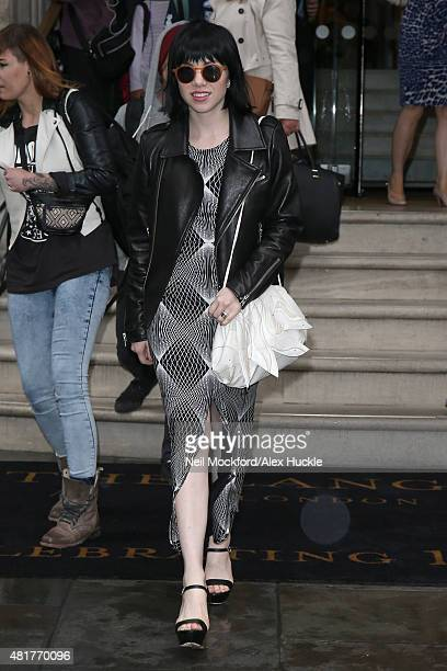 Carly Rae Jepsen seen leaving The Lagnham Hotel on July 24 2015 in London England