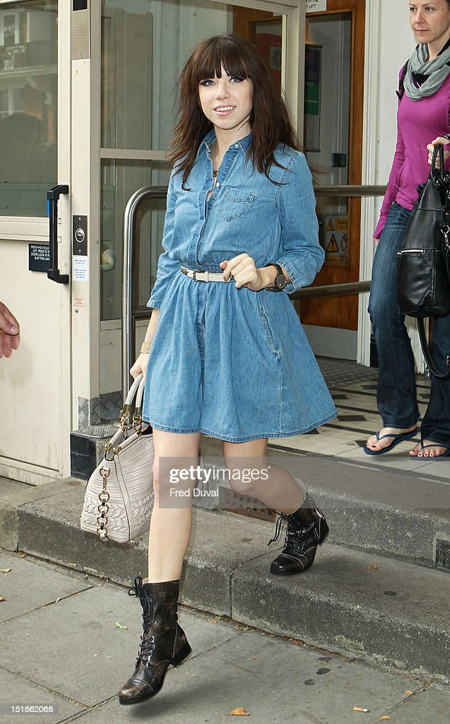 Carly Rae Jepsen sighting leaving BBC Maida Vale Studio on September 12 2012 in London England