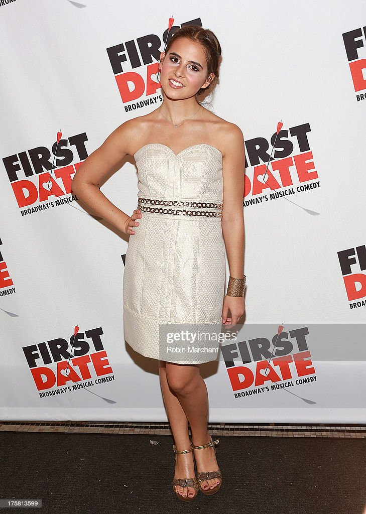 Carly Rose Sonenclar attends 'First Date' Broadway Opening Night at Longacre Theatre on August 8, 2013 in New York City.
