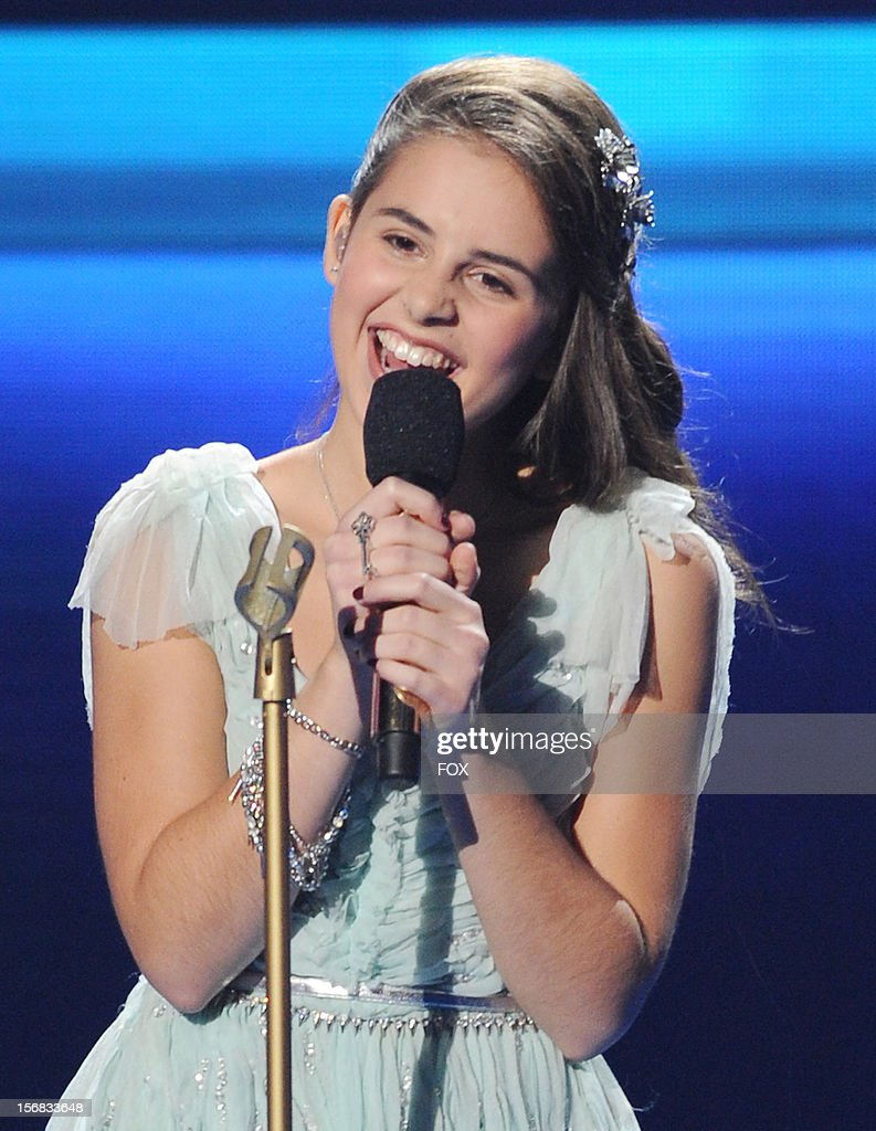 Carly Rose Sonenclar onstage at FOX's 'The X Factor' Season 2 Top 10 Live Performance Show on November 21, 2012 in Hollywood, California.