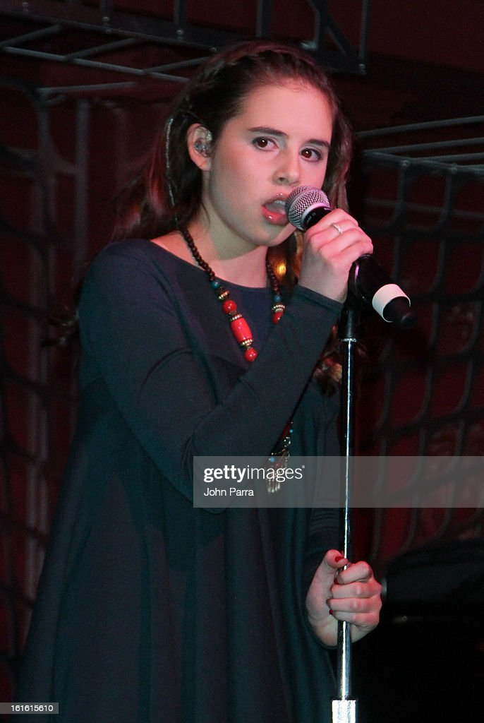 Carly Rose Sonenclar performs at the ANA Board Dinner Presented By VEVO at The Darby on February 12, 2013 in New York City.