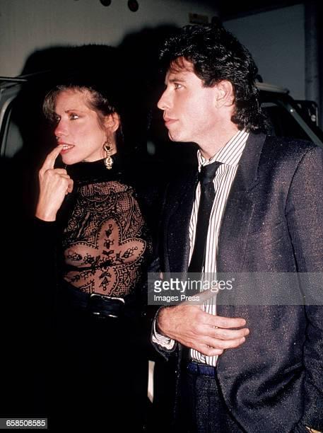 Carly Simon and John Travolta circa 1986 in New York City