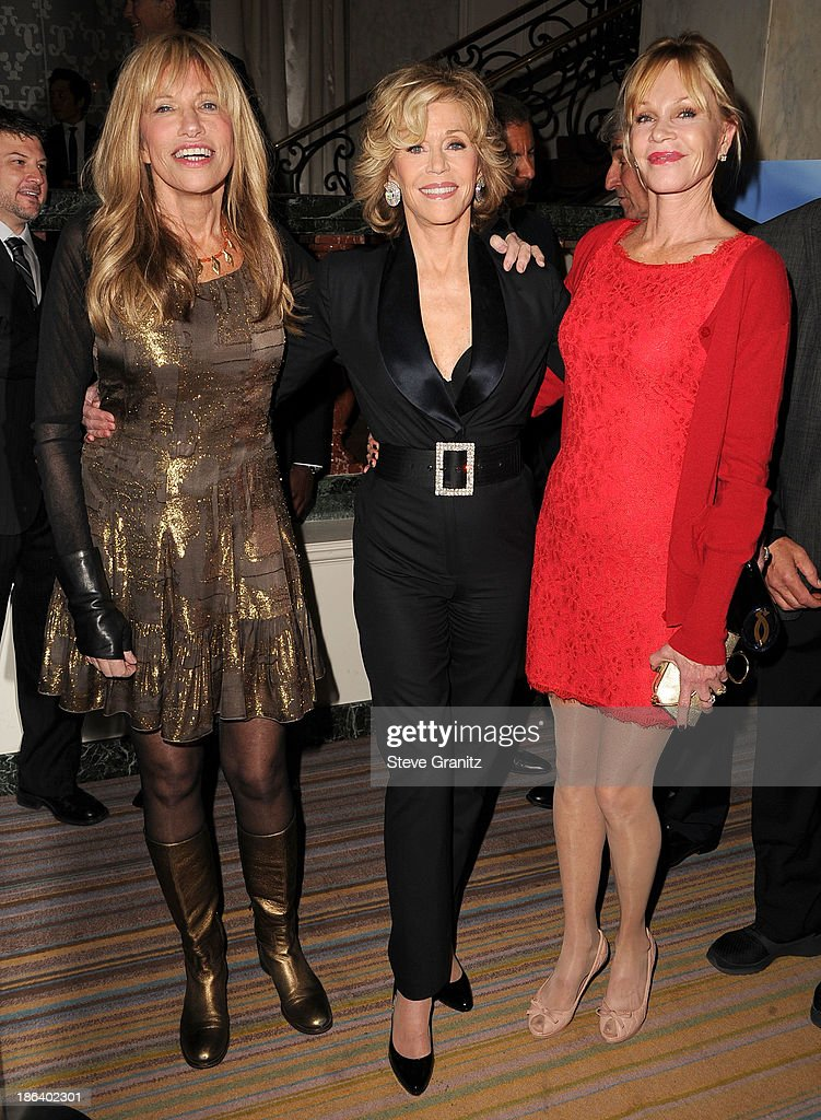 Carly Simon, Jane Fonda and Melanie Griffith arrives at the Oceana Partners Award Gala With Former Secretary Of State Hillary Rodham Clinton and HBO CEO Richard Pleple at Regent Beverly Wilshire Hotel on October 30, 2013 in Beverly Hills, California.