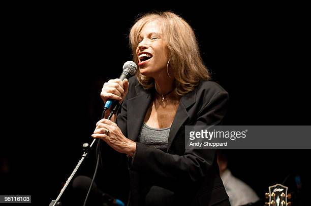 ACCESS*** Carly Simon performs exclusively for BBC Radio 2 at BBC Maida Vale Studios on March 2 2010 in London England