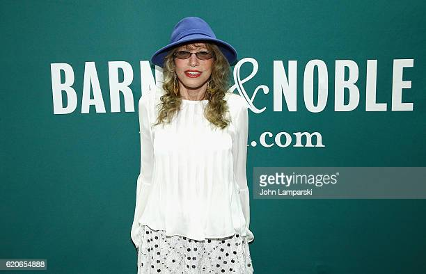 Carly Simon signs copies of 'Boys In The Trees' at Barnes Noble Union Square on November 2 2016 in New York City