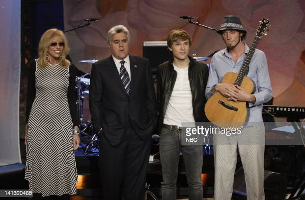LENO Carly Simon William Moseley Ben Taylor Air Date Episode 3554 Pictured Singer Carly Simon host Jay Leno actor William Moseley and musician Ben...