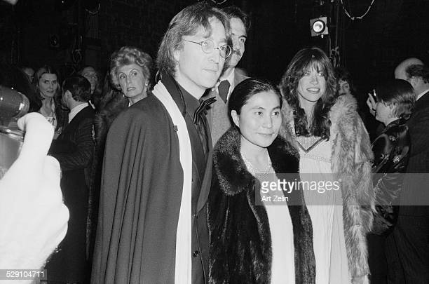 Carly Simon Yoko Ono James Taylor and John Lennon attending a formal event circa 1960 New York