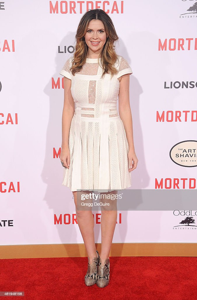 Carly Steel arrives at the Los Angeles premiere of 'Mortdecai' at TCL Chinese Theatre on January 21 2015 in Hollywood California