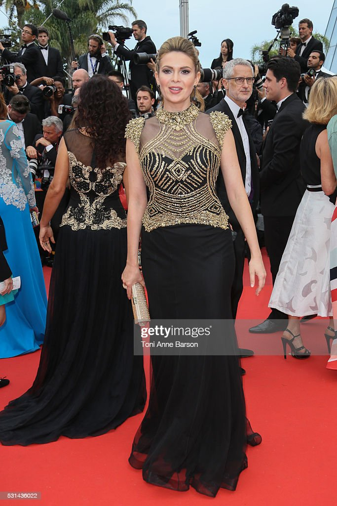 Carly Steel attends a screening of 'The BFG' at the annual 69th Cannes Film Festival at Palais des Festivals on May 14 2016 in Cannes France